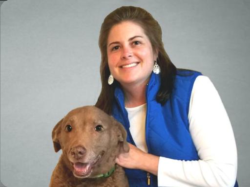 GoodPup's Head of Training, Kait Hembree VTS (Behavior), CVT, KPA CTP, and her dog.
